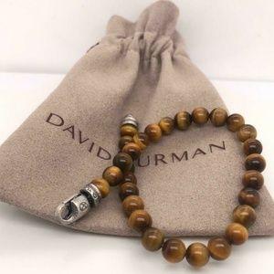David Yurman Tiger's Eye 6mm Bead Bracelet